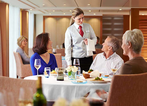 Viking-Longship-Restaurant - Look for attentive service from the wait staff during your journey through Europe aboard a Viking Cruises river ship.