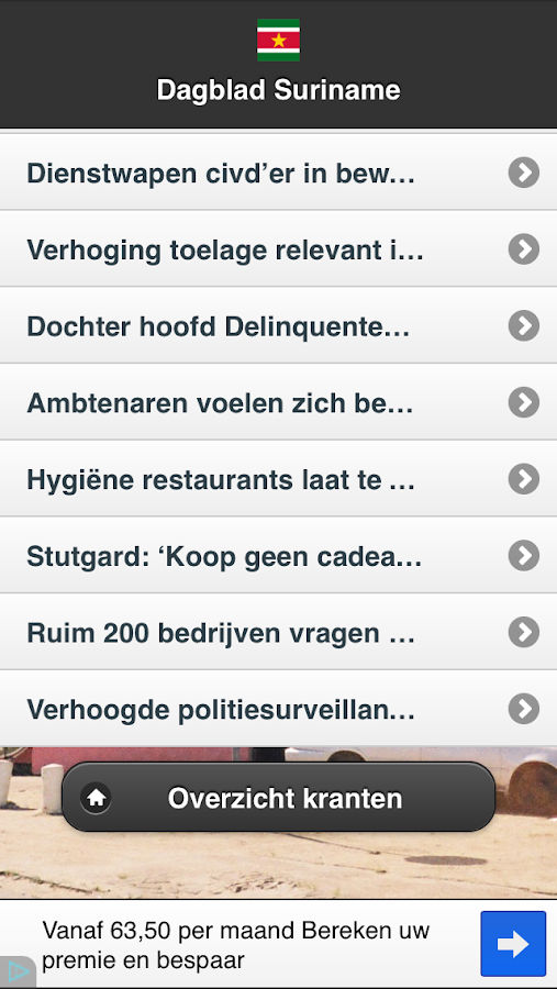 Suriname Nieuws Free - screenshot