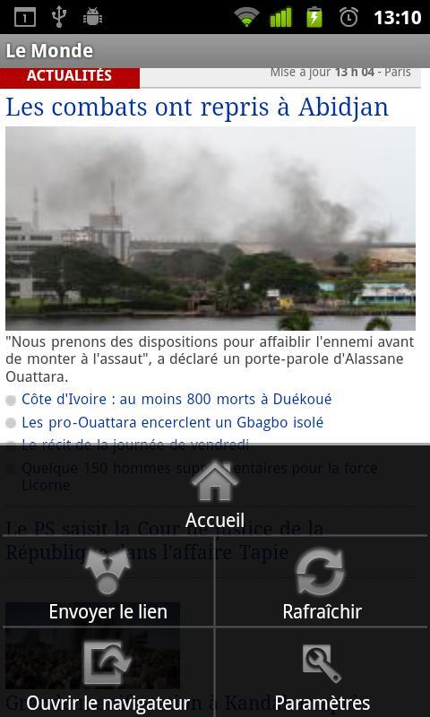 Journaux Français- screenshot