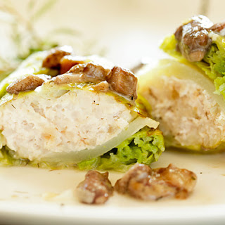 Cabbage Rolls with Meat Stuffing and Wild Mushroom Sauce