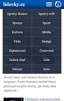 Screenshot of Lidovky.cz