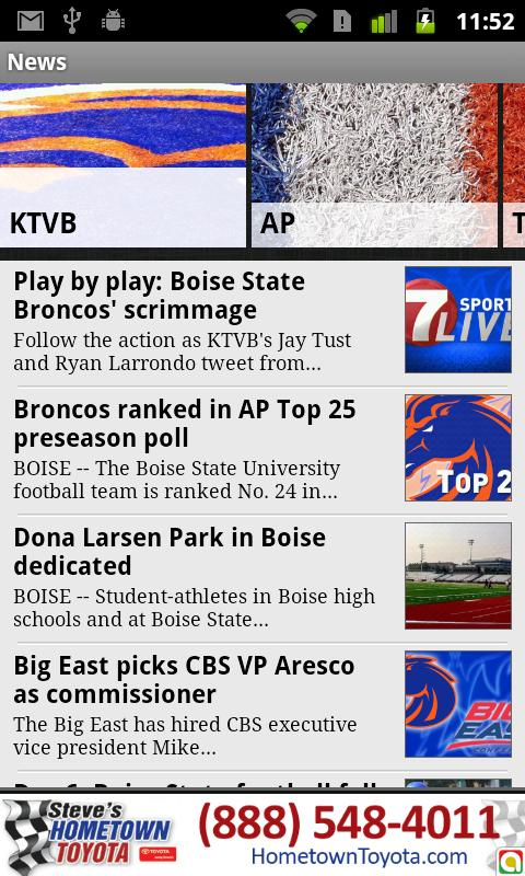 Boise State Bronco Roundup - screenshot