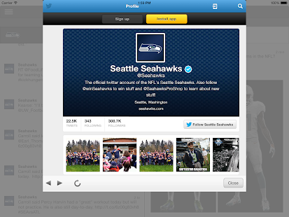 Seattle Seahawks FanSide - screenshot thumbnail