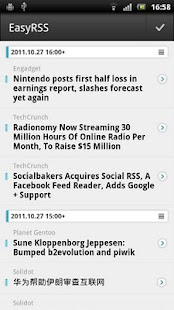 EasyRSS (Google Reader | RSS) - screenshot thumbnail