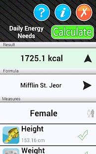 Daily Calorie Needs Calculator - screenshot thumbnail