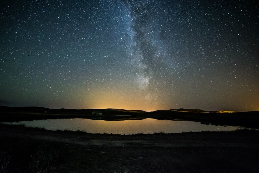 Houll Loch 12:20am 26/08/2014 by David John Anderson - Landscapes Starscapes