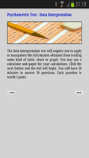Psychometric Test Data Int