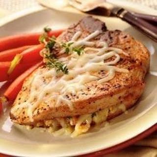 Italian Cheese Stuffed Pork Chops