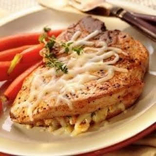 Italian Cheese Stuffed Pork Chops.