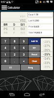 Screenshot of EZcalc Diamonds