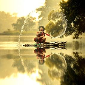 morning glory by DODY KUSUMA  - People Professional People ( selective color, pwc, , #GARYFONGDRAMATICLIGHT, #WTFBOBDAVIS )