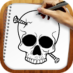 Draw Tatto Skulls