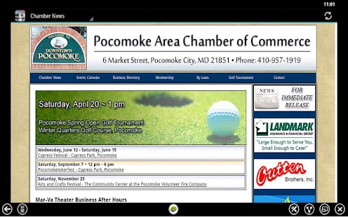 Pocomoke Chamber of Commerce - screenshot thumbnail