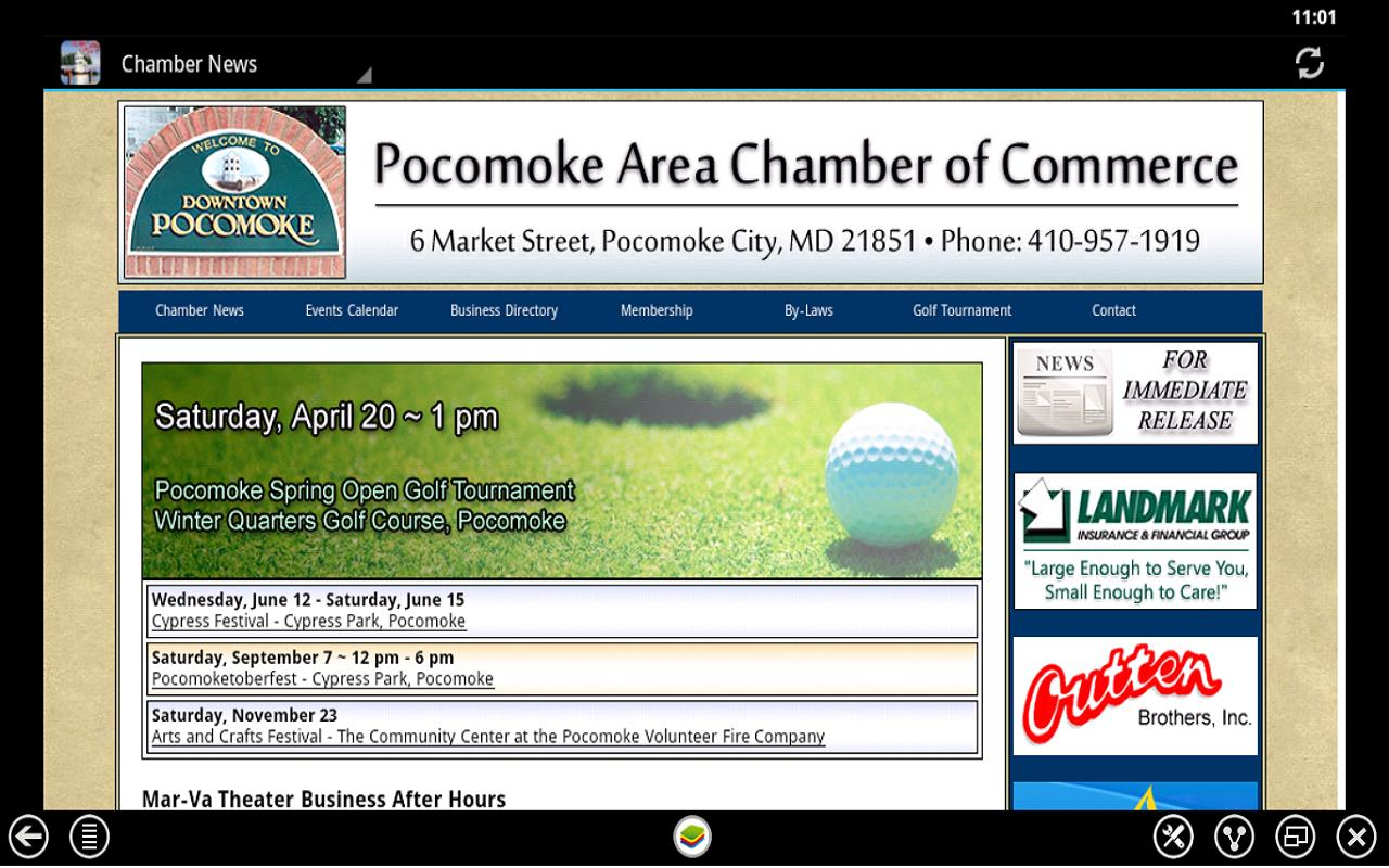 Pocomoke Chamber of Commerce - screenshot