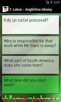 Screenshot of Angličtina - Fráze a idiomy
