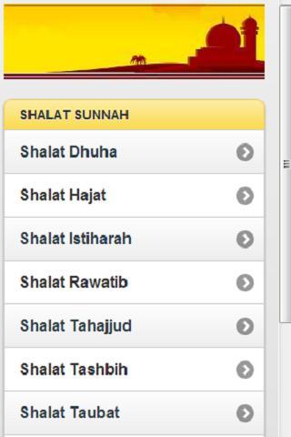 Tuntunan Shalat Sunnah- screenshot