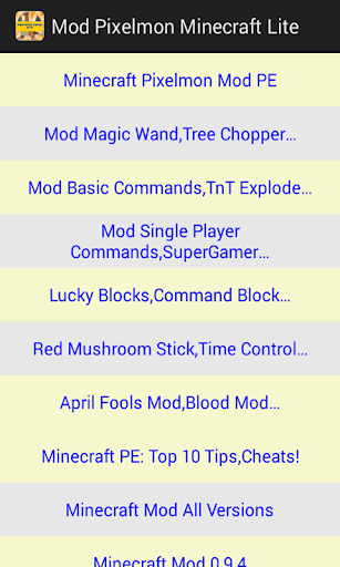 Mod Pixelmon Minecraft Lite Ex