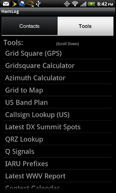 HamLog- screenshot