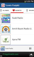 Screenshot of Punjabi Radio