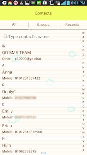 Happy Apple go sms theme - screenshot thumbnail