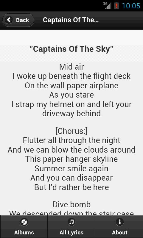 Handy Lyrics - Sky Sailing - screenshot