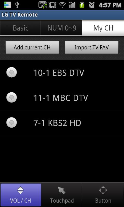 LG TV Remote 2011- screenshot