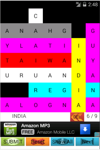 Find the Country: Word Search