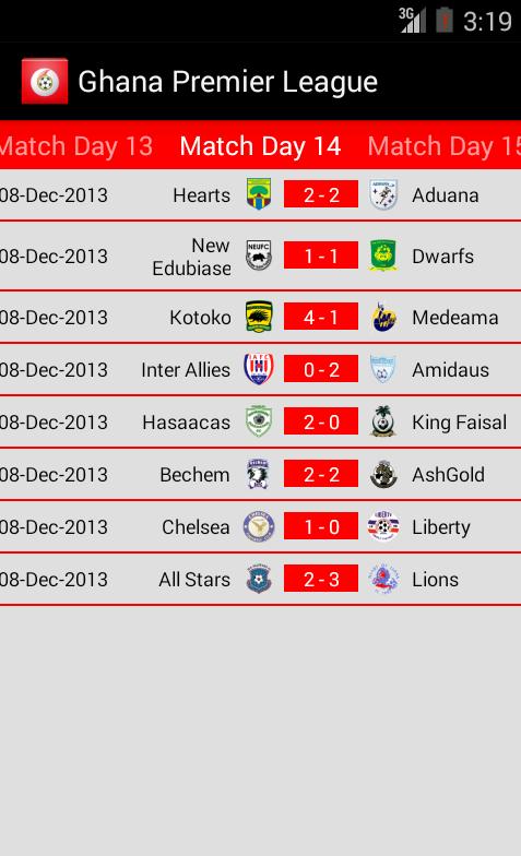 Ghana football premier league android apps on google play for 06 07 premier league table