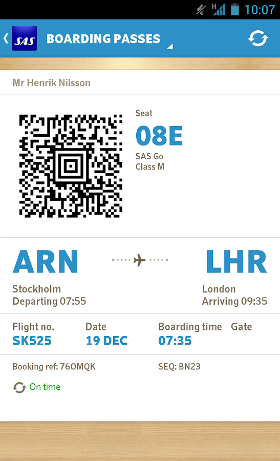 SAS Scandinavian Airlines - screenshot