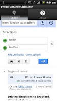 Screenshot of Dhoori Distance Calculator