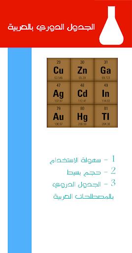 الجدول الدوري بالعربية