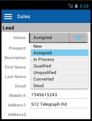Sales Leads & Quote Management- screenshot