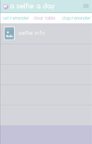 a selfie a day