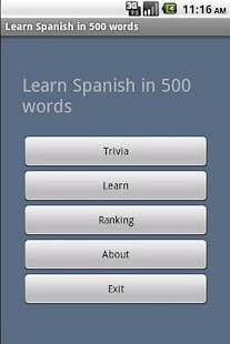 Learn Spanish in 500 words - screenshot thumbnail