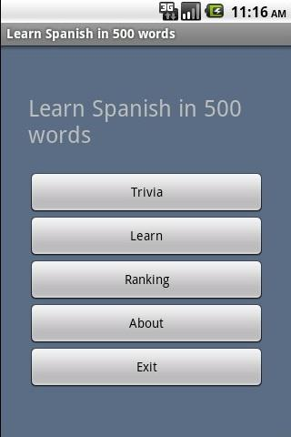 Learn Spanish in 500 words - screenshot