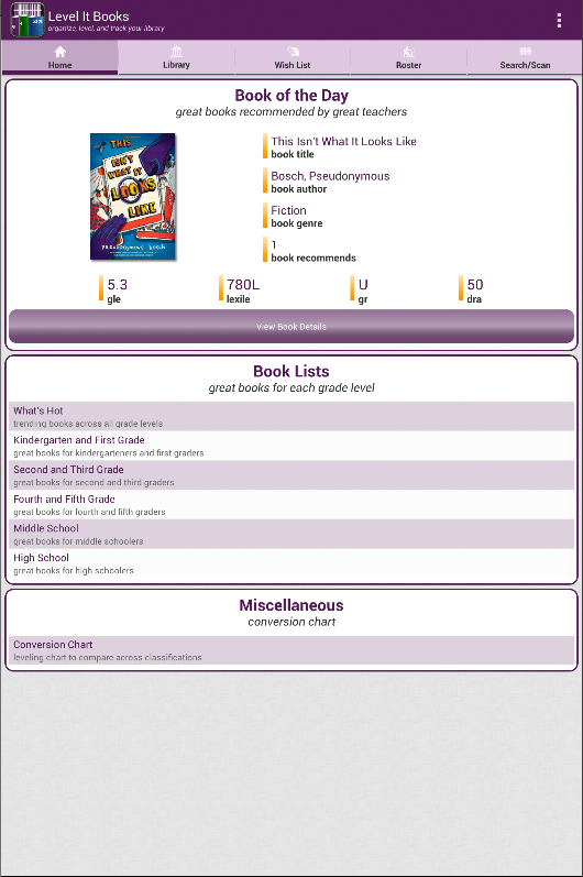 Level It Books- screenshot
