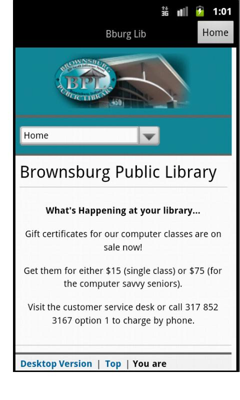 Brownsburg Public Library - screenshot