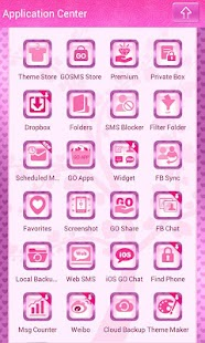 Cute Love Owls Theme Go SMS - screenshot thumbnail