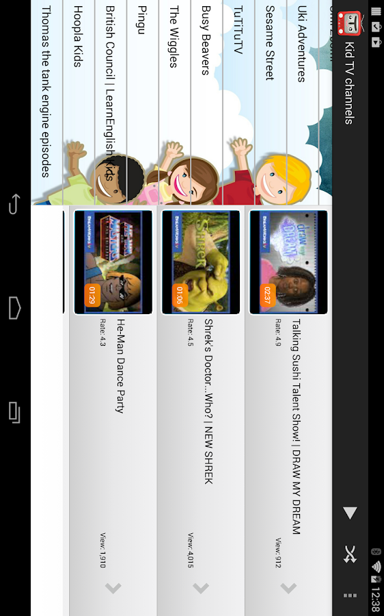 Home channel tv pictures for kids.