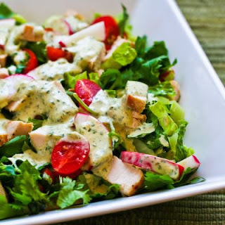 Recipe for Leftover Chicken Chopped Salad with Cafe Rio Style Creamy Tomatillo Dressing Recipe