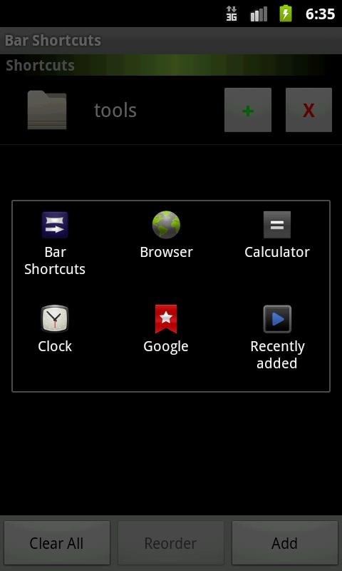Bar Shortcut - screenshot