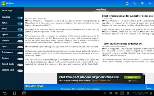 Philstar for Android - screenshot thumbnail