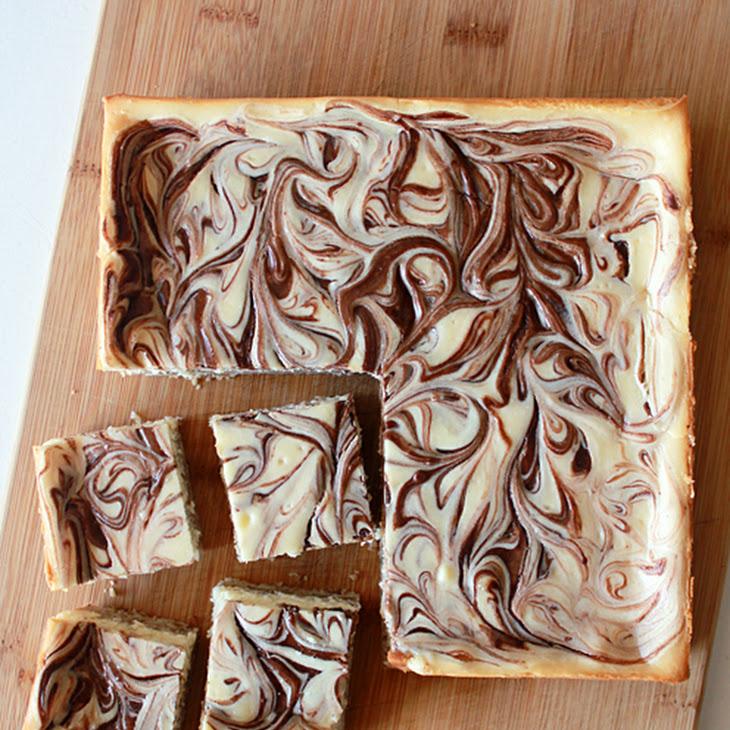 Easy Nutella Cheesecake Square Recipe