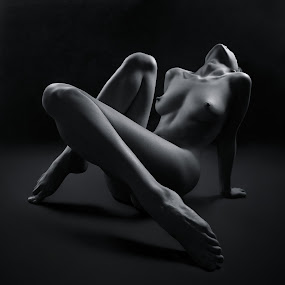 Moongirl by Maxim Malevich - Nudes & Boudoir Artistic Nude ( erotic, breast, body, nude, female, black and white, naked, woman )
