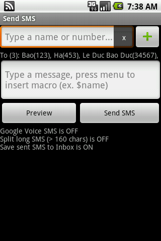 Group SMS & Scheduler - screenshot
