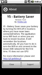 Y5 - Battery Saver - screenshot thumbnail
