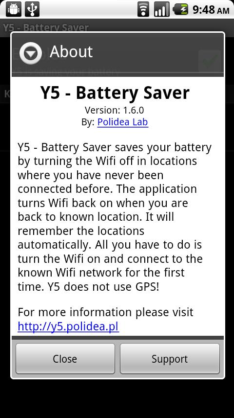Y5 - Battery Saver - screenshot