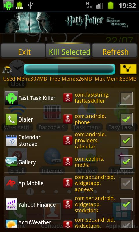 Fast Task Killer - screenshot