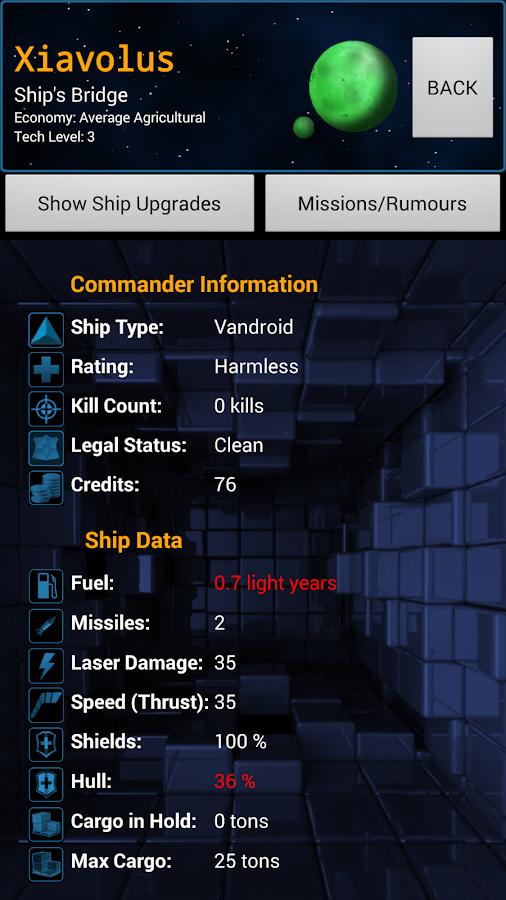 Starband Space Trading Game - screenshot