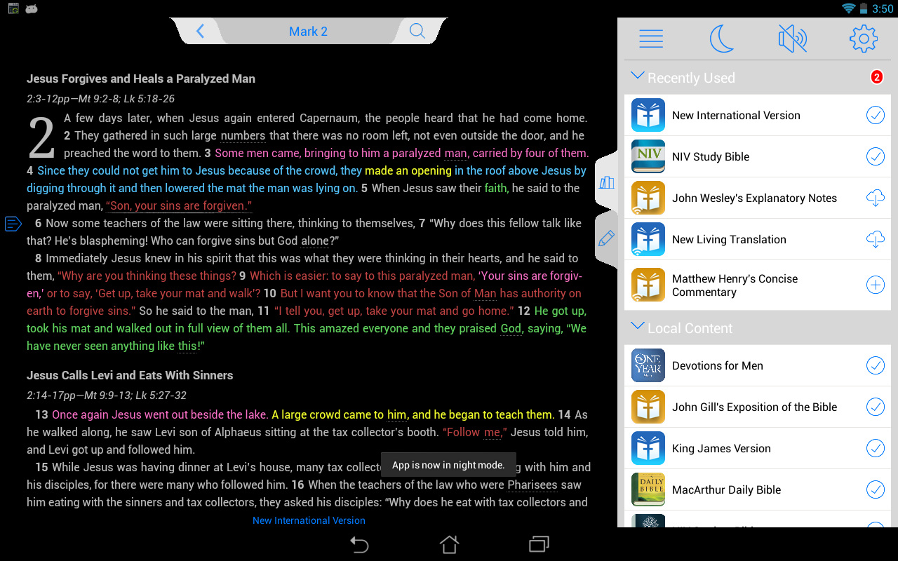 NIV Bible - screenshot